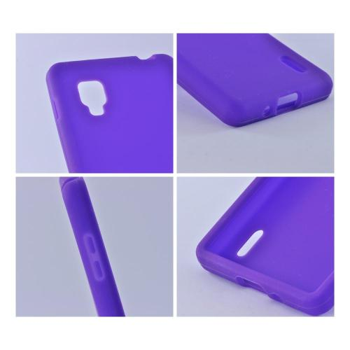 Silicone Case Purple for LG Optimus G Sprint