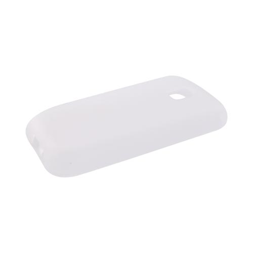 LG Optimus M MS690 Silicone Case - Frost White