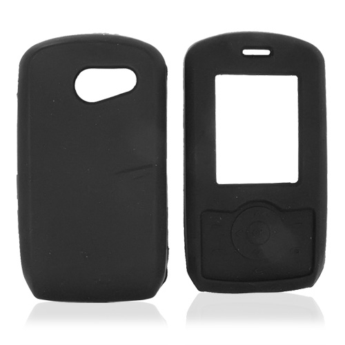 LG Lyric MT375 Silicone Case, Rubber Skin - Black