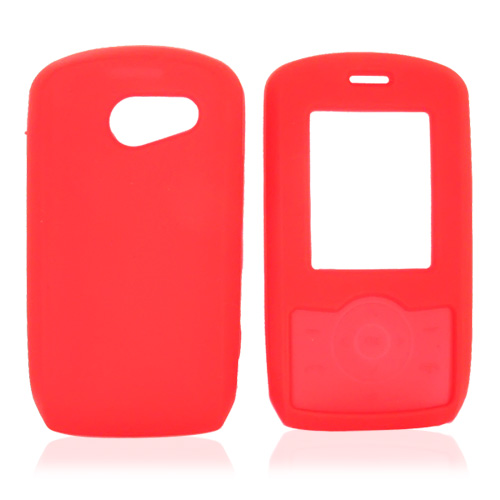 LG Lyric MT375 Silicone Case, Rubber Skin - Red