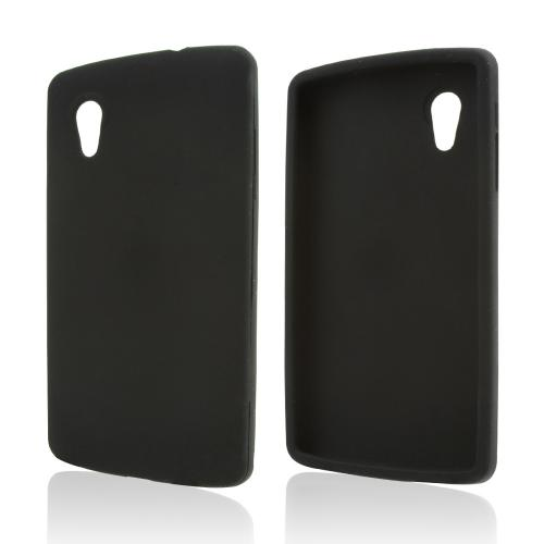 Black Silicone Skin Case for LG Google Nexus 5