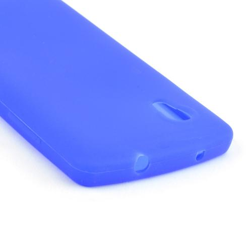 Blue Silicone Skin Case for LG Google Nexus 5