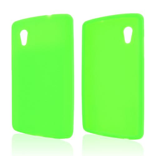 Neon Green Silicone Skin Case for LG Google Nexus 5