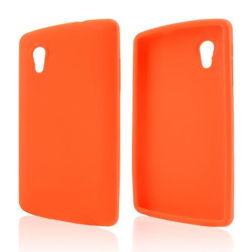 Orange Silicone Skin Case for LG Google Nexus 5