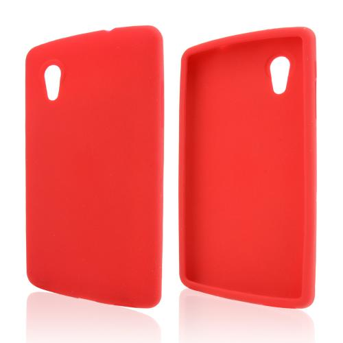 Red Silicone Skin Case for LG Google Nexus 5