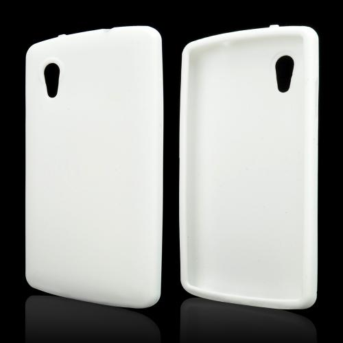 White Silicone Skin Case for LG Google Nexus 5
