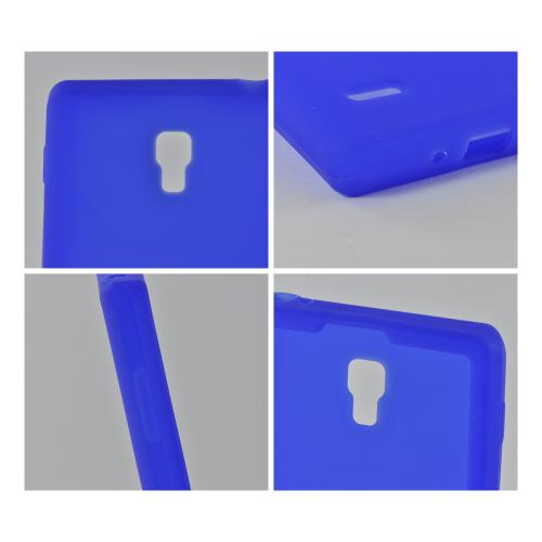Blue Silicone Case for LG Optimus L9