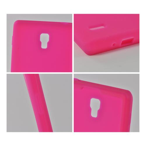 Hot Pink Silicone Case for LG Optimus L9