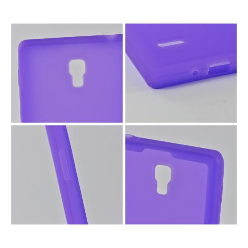Purple Silicone Case for LG Optimus L9