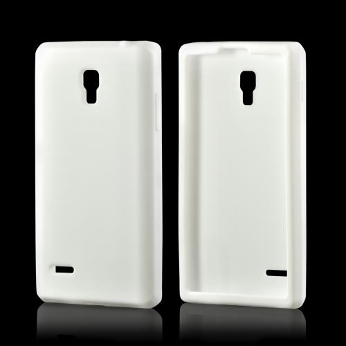 White Silicone Case for LG Optimus L9