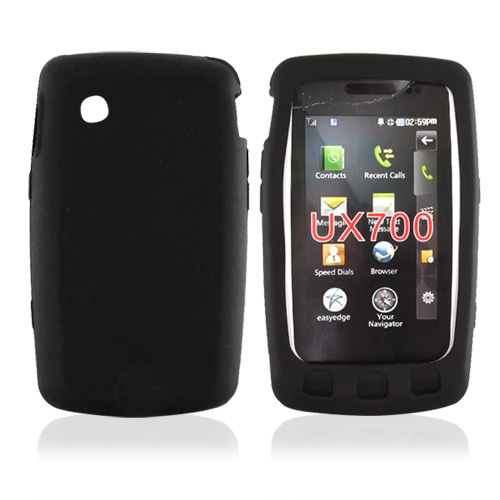 LG Bliss UX700 Silicone Case, Rubber Skin - Black