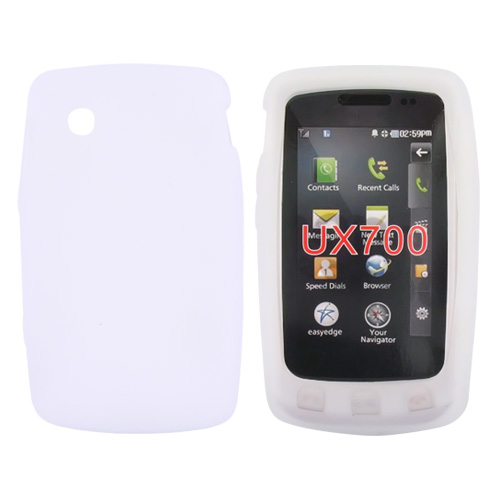LG Bliss UX700 Silicone Case, Rubber Skin - Frost White