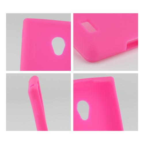 Hot Pink Silicone Case for LG Lucid 2