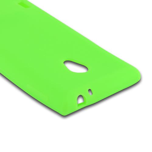 Neon Green Silicone Case for LG Lucid 2