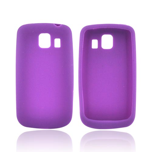 LG Vortex Rubber Skin, Silicone Case - Purple