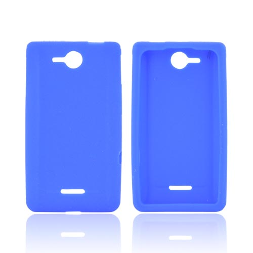 LG Lucid VS840 Silicone Case - Blue
