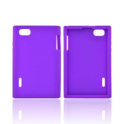 LG Optimus Vu VS950 Silicone Case - Purple