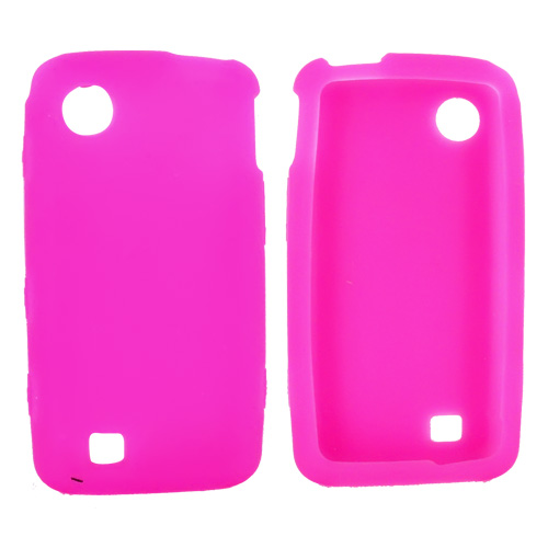 Verizon LG Chocolate Touch VX8575 Silicone Case, Rubber Skin - Hot Pink