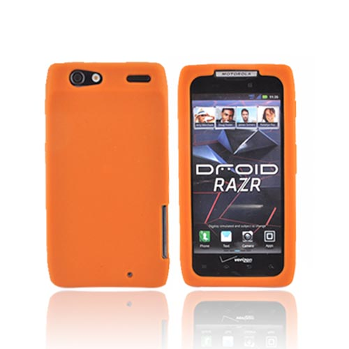 Motorola Droid RAZR/ RAZR MAXX Silicone Case - Orange