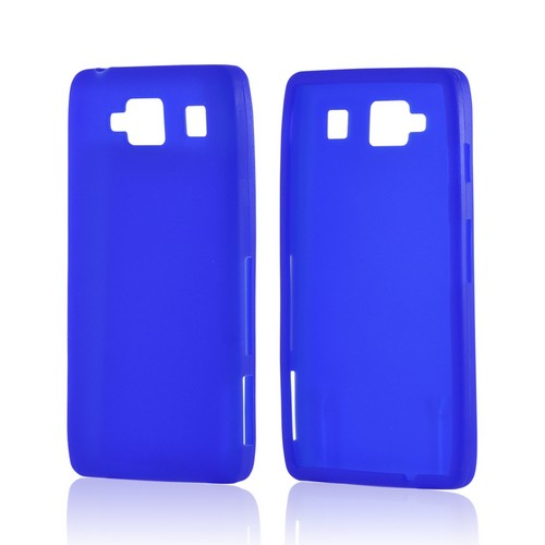 Blue Silicone Case for Motorola Droid RAZR MAXX HD