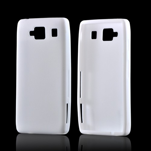 White Silicone Case for Motorola Droid RAZR MAXX HD