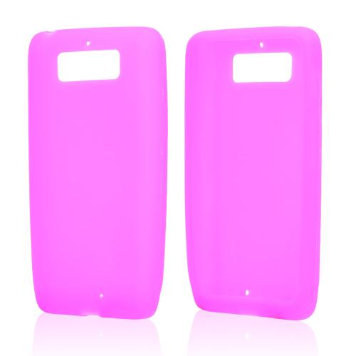 Hot Pink Silicone Skin Case for Motorola Droid Mini
