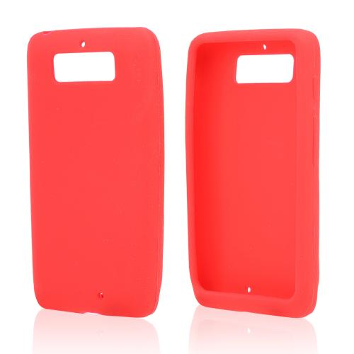 Red Silicone Skin Case for Motorola Droid Mini