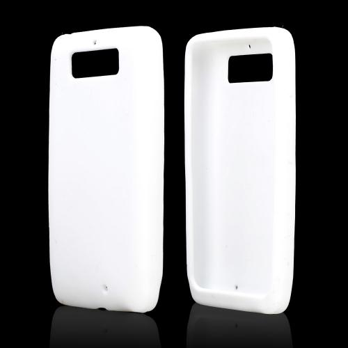 White Silicone Skin Case for Motorola Droid Mini