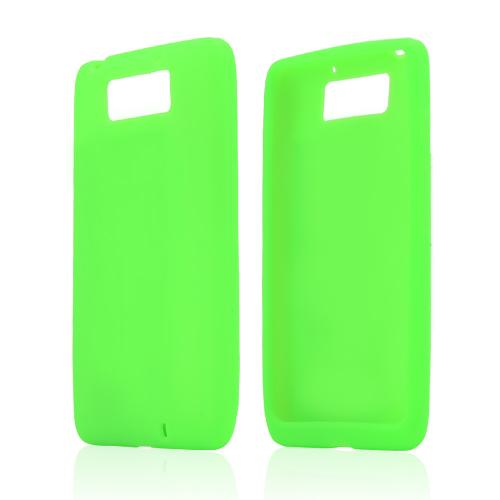 Neon Green Silicone Skin Case for Motorola Droid Ultra/ Droid MAXX