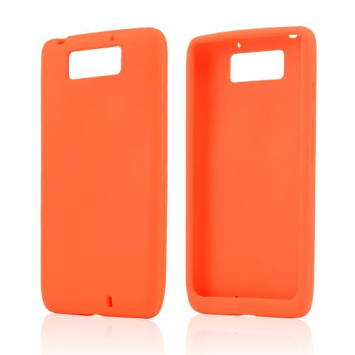 Orange Silicone Skin Case for Motorola Droid Ultra/ Droid MAXX