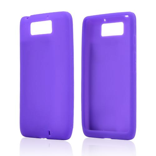 Purple Silicone Skin Case for Motorola Droid Ultra/ Droid MAXX