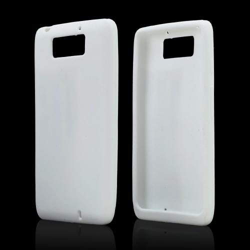 White Silicone Skin Case for Motorola Droid Ultra/ Droid MAXX