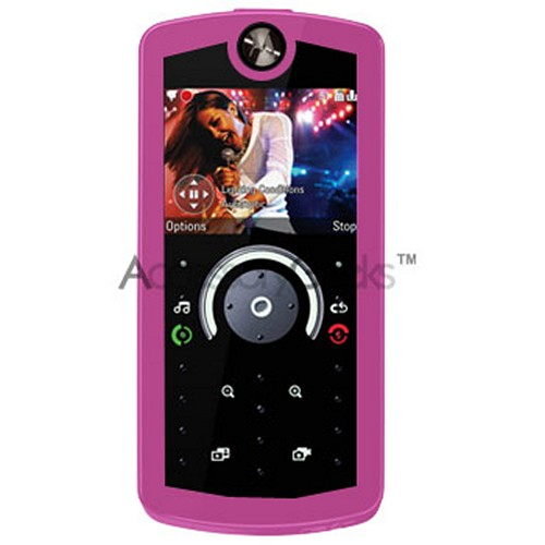 Motorola ROKR E8 silicone case, rubber skin - Hot Pink