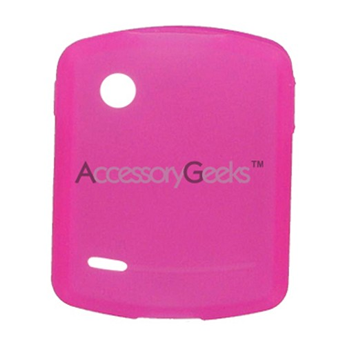 Motorola Hint QA30 Silicone Case, Rubber Skin - Hot Pink