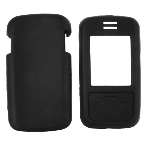 Motorola Debut i856 Silicone Case, Rubber Skin - Black