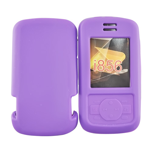 Motorola Debut i856 Silicone Case, Rubber Skin - Purple