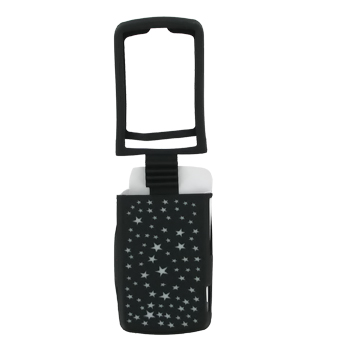 Motorola Stature i9 Silicone Case - Tiny White Stars on Black