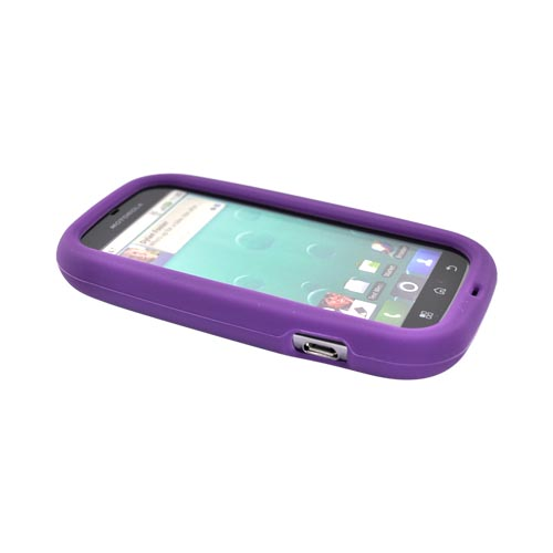 Motorola Bravo MB520 Silicone Case - Purple