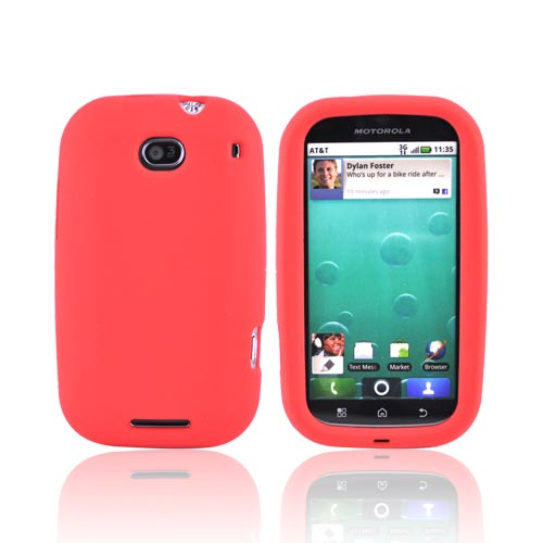 Motorola Bravo MB520 Silicone Case - Red
