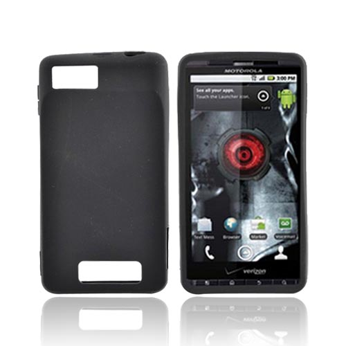 Motorola Droid X MB810 Silicone Case - Black