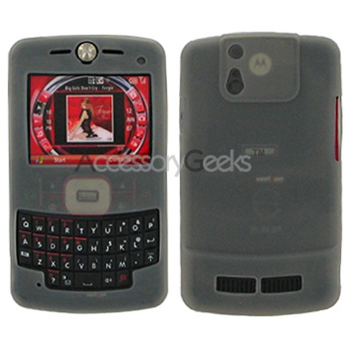 Motorola Q9m Silicone Case - Transparent Smoke