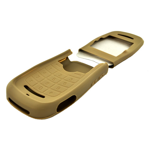 Motorola Quantico W845 Silicone Case, Rubber Skin - Creamy Chocolate Brown