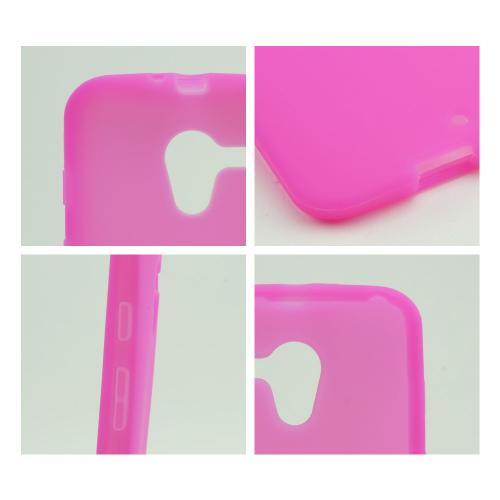 Hot Pink Silicone Skin Case for Motorola Moto X(2013 1st Gen)