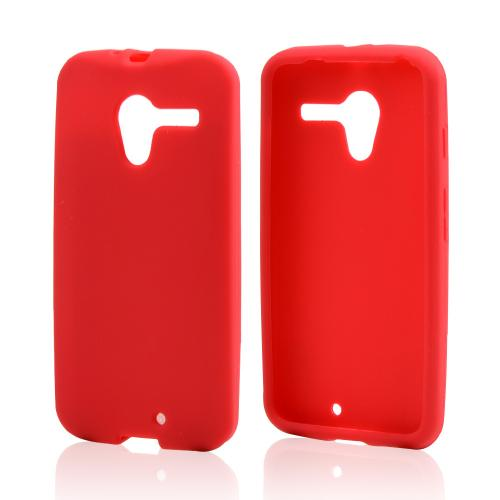 Red Silicone Skin Case for Motorola Moto X(2013 1st Gen)