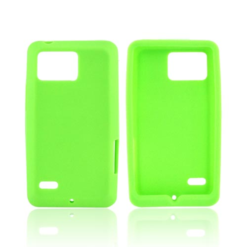 Motorola Droid Bionic XT875 Silicone Case - Green