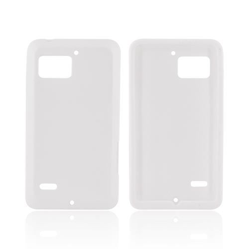 Motorola Droid Bionic XT875 Silicone Case - Solid White