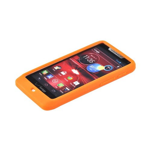 Motorola Droid RAZR M Silicone Case - Orange
