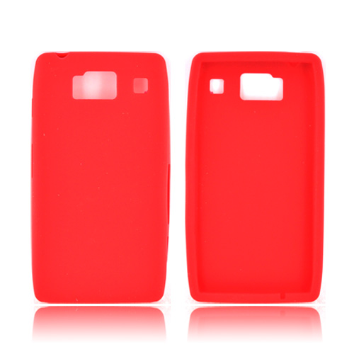 Motorola Droid RAZR HD Silicone Case - Red