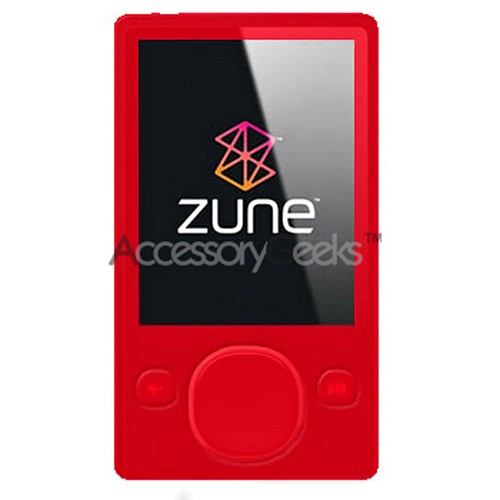 Microsoft Zune Rubber Rubber silicone case, rubber skin (80GB) - Red