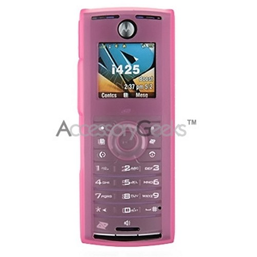 Nextel i425 Silicone Case, Rubber Skin - Hot Pink
